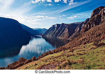 挪威, fjord, 風景