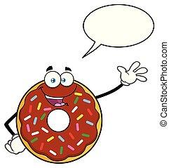 振りかける, 特徴, チョコレート, 振ること, ドーナツ, 漫画, マスコット