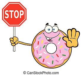 振りかける, 特徴, 一時停止標識, ドーナツ, 保有物, 漫画, マスコット