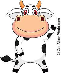 振ること, かわいい, 漫画, 牛