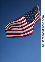 振ること, アメリカの旗
