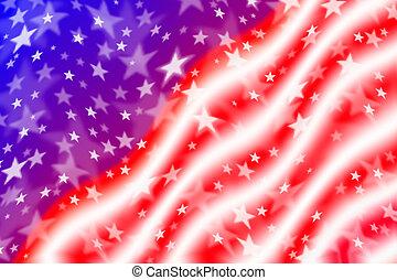 振ること, アメリカの旗, 背景