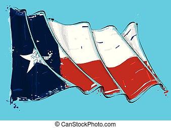 振ること, ストローク, ブラシ, texan, 芸術的, 旗