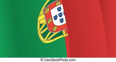 振ること, ポルトガル語, ベクトル, 背景, flag.