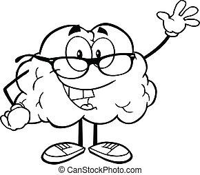 振ること, 脳, 概説された, 挨拶