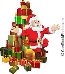 振ること, 贈り物, 山, santa, モデル