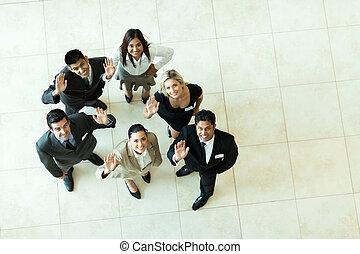 振ること, 間接費, businesspeople, 光景