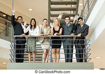振ること, 階段, ビジネス 人々