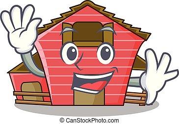 振ること, a, 赤い納屋, 家, 特徴, 漫画