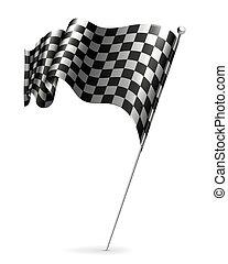 振ること, checkered, 旗, 10eps