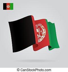 振ること, flag., アフガニスタン, ベクトル, 背景