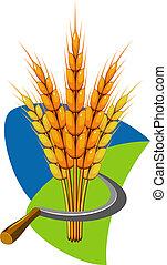 捆, 小麥, 鐮刀