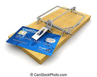 捕鼠器, 由于, 信用卡