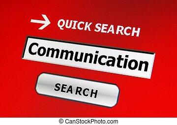 捜索しなさい, ∥ために∥, コミュニケーション