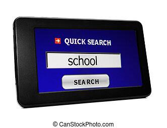 捜索しなさい, ∥ために∥, 学校