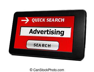 捜索しなさい, ∥ために∥, 広告