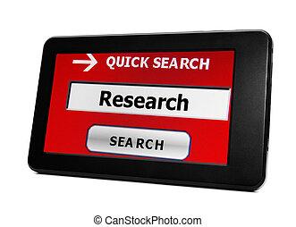 捜索しなさい, ∥ために∥, 研究
