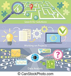 捜索しなさい, ∥ために∥, 解決, データ, 分析, 仕事, プロジェクト