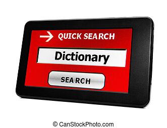 捜索しなさい, ∥ために∥, 辞書