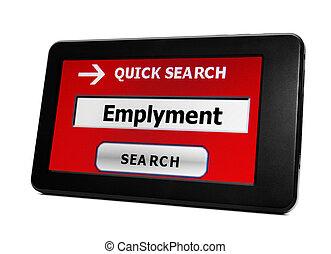 捜索しなさい, ∥ために∥, 雇用