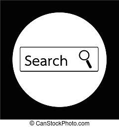 捜索しなさい, アイコン