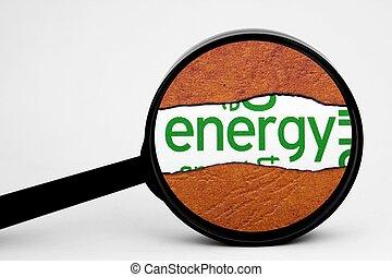 捜索しなさい, エネルギー