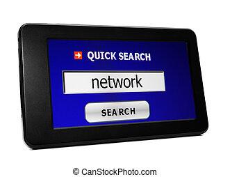 捜索しなさい, ネットワーク