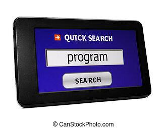 捜索しなさい, プログラム