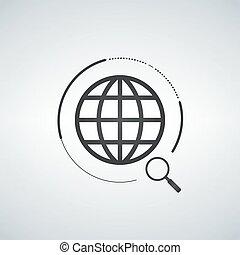 捜索しなさい, 世界的である, アイコン