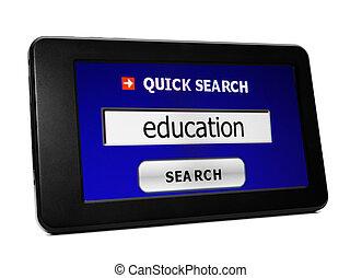 捜索しなさい, 教育