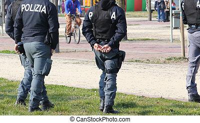 捜索しなさい, 警察, ディーラー, 巡回, 公園, 薬, イタリア語