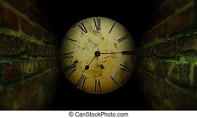 捜索しなさい, 迷路, 暗い, clock.., 出口, maze.
