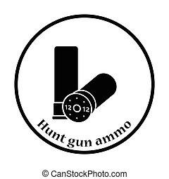 捜索, 銃, 弾薬, アイコン