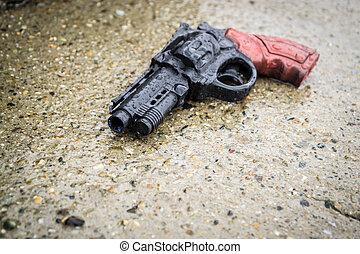 捨てられた, プラスチック, 銃