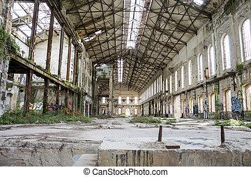 捨てられた, 古い, 工場
