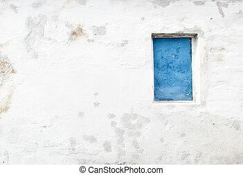 捨てられた, 台なし, ∥で∥, 古い, 窓, そして, 壁, 産業, 窓, 中に, 具体的な 壁