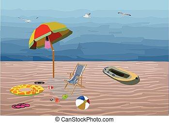 捨てられた, 海, リラックスしなさい, 浜, ゲーム