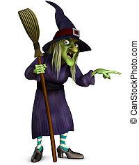 掃帚, 巫婆