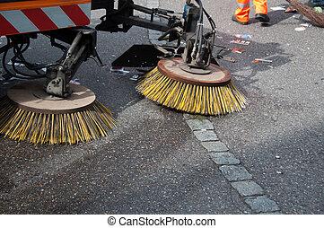 掃除人, 通り, machine/car
