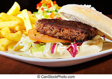 排他的, フライド・ポテト, ハンバーガー