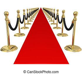 排他的, 金, 歓迎, vip, 招待, パーティー, 支柱, でき事, 赤いカーペット