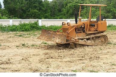 掘削機, ∥において∥, a, 建築現場