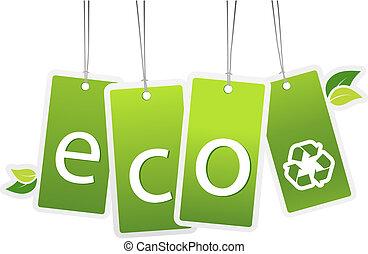 掛かること, エコロジー, カード。