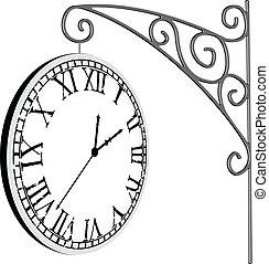 掛けられる, 時計