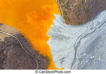採礦, 空中, 自然, residuals, 看法, 污染