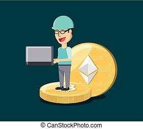 採礦, cryptocurrency, 設計