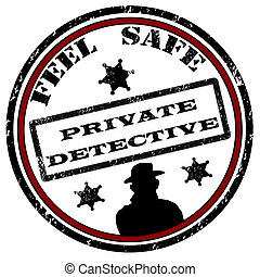 探偵, 切手, 私用