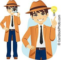探偵, 専門家, 概念, 考え