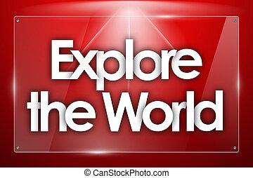 探検しなさい, 透明, 形, ガラス, 単語, 世界