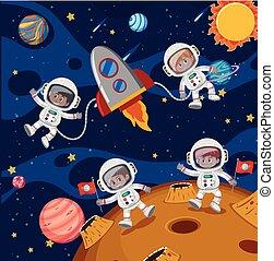 探検, 宇宙飛行士, スペース